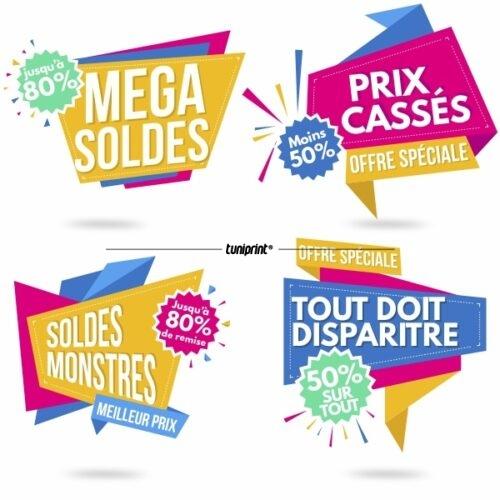 Stickers Méga Soldes