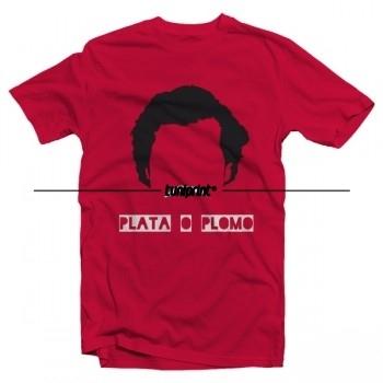 T-shirt de la série tv US - Narcos - plato o plomo - flex 2 couleurs