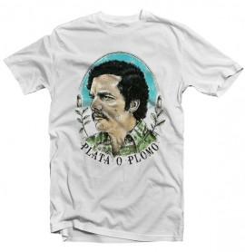 T-Shirt Narcos - Pablo Escobar - Plata O Plomo