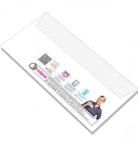 Enveloppe blanche sans fenêtre, impression recto, format DL