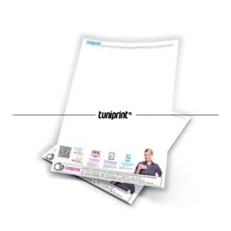 Papier entête / Tête de lettre imprimé sur du papier offset 80gr en quadri couleurs