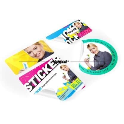 Stickers personnalisées forme de découpe cnc
